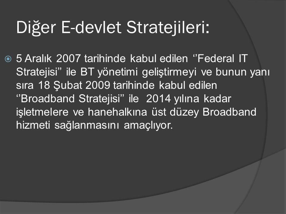 Diğer E-devlet Stratejileri: