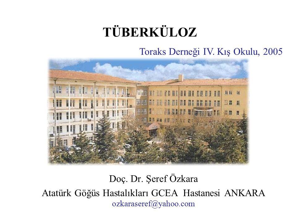 Atatürk Göğüs Hastalıkları GCEA Hastanesi ANKARA ozkaraseref@yahoo.com