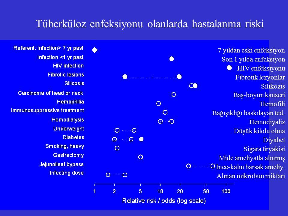 Tüberküloz enfeksiyonu olanlarda hastalanma riski