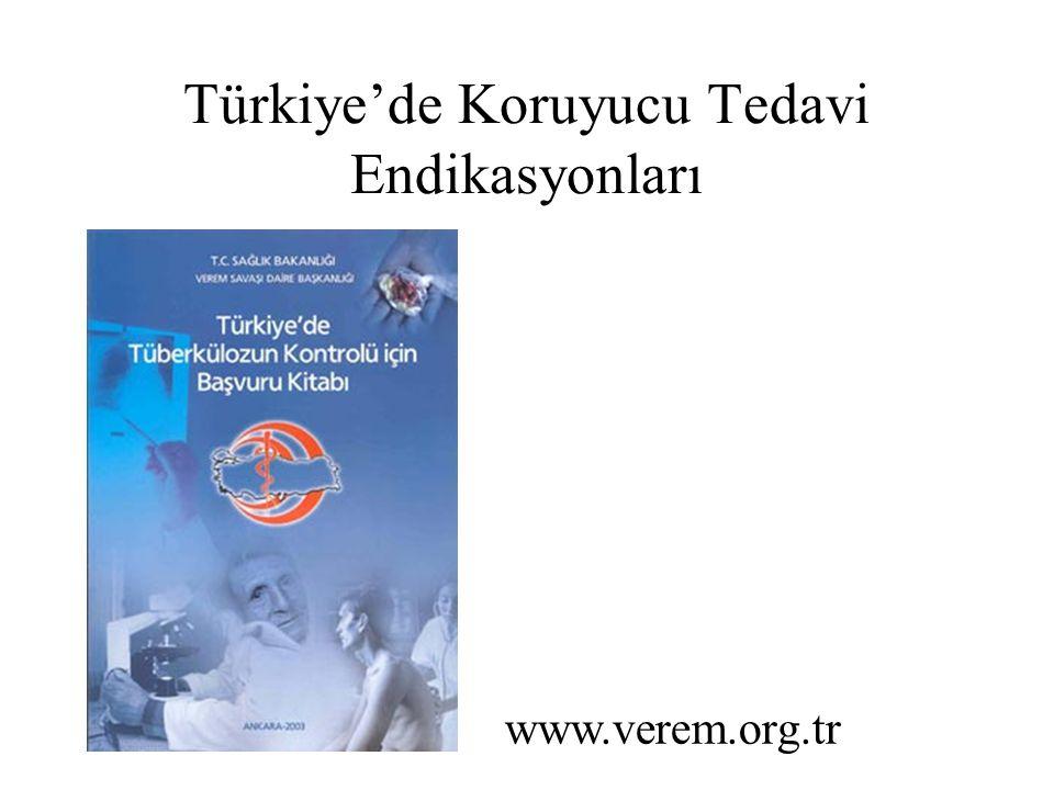 Türkiye'de Koruyucu Tedavi Endikasyonları