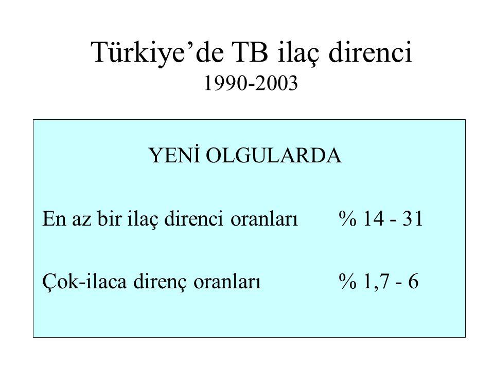Türkiye'de TB ilaç direnci 1990-2003