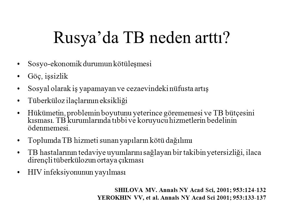 Rusya'da TB neden arttı