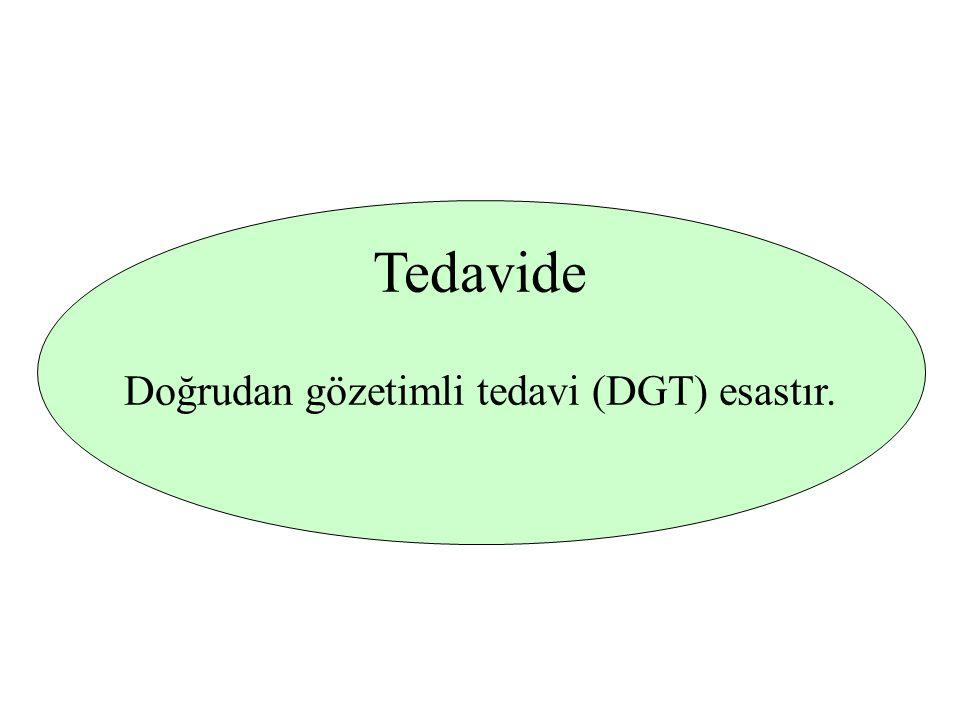 Doğrudan gözetimli tedavi (DGT) esastır.