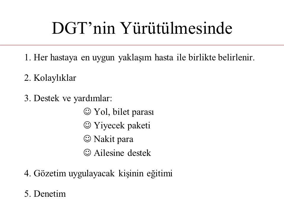 DGT'nin Yürütülmesinde