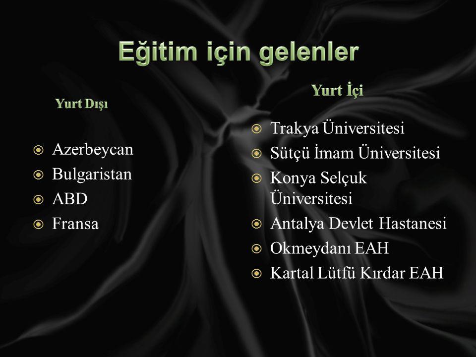 Eğitim için gelenler Trakya Üniversitesi Azerbeycan