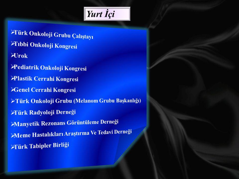 Yurt İçi Türk Onkoloji Grubu Çalıştayı Tıbbi Onkoloji Kongresi Urok