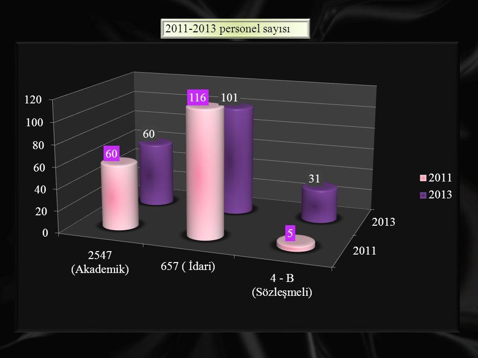 2011-2013 personel sayısı