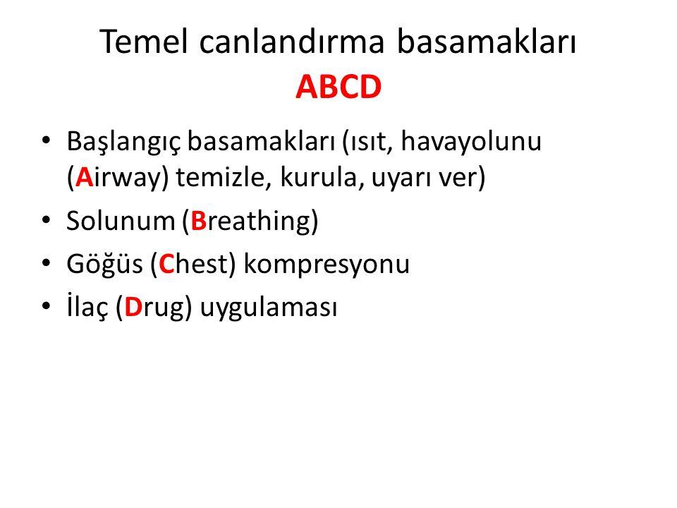 Temel canlandırma basamakları ABCD