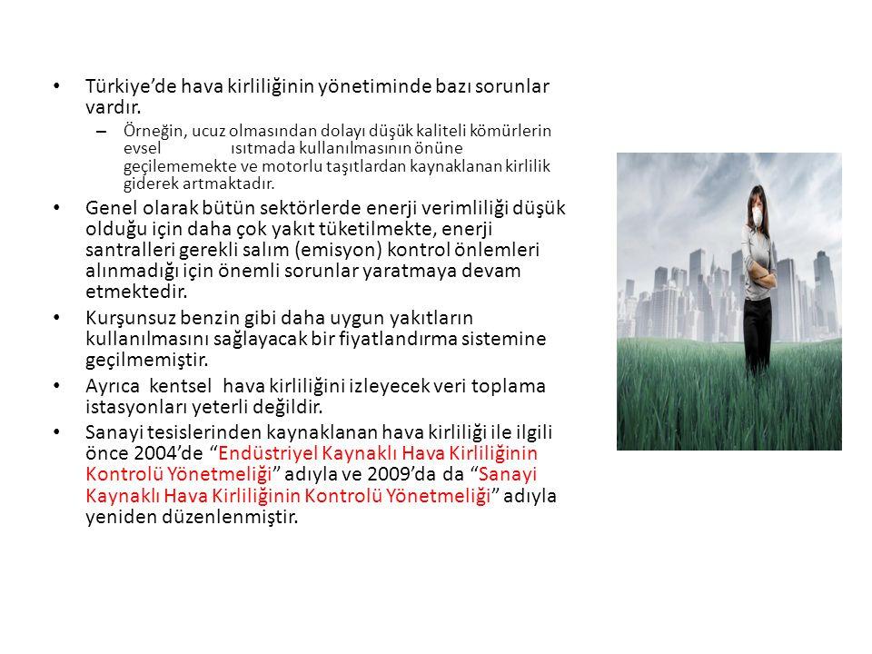 Türkiye'de hava kirliliğinin yönetiminde bazı sorunlar vardır.