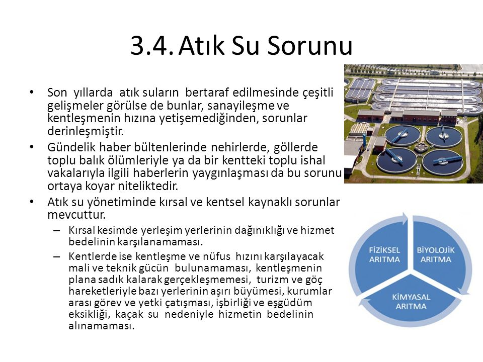 3.4. Atık Su Sorunu