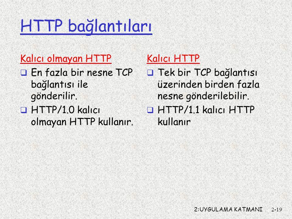 HTTP bağlantıları Kalıcı olmayan HTTP