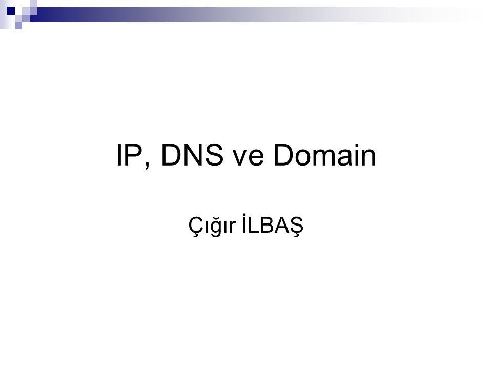 IP, DNS ve Domain Çığır İLBAŞ