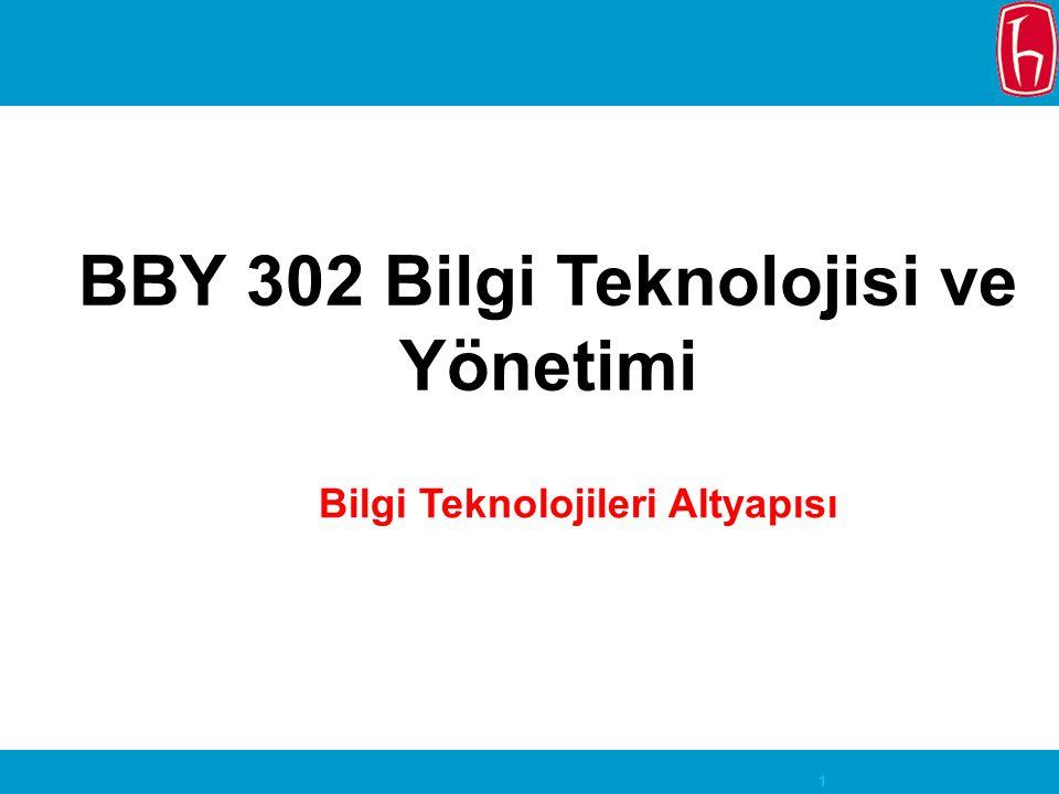 BBY 302 Bilgi Teknolojisi ve Yönetimi Bilgi Teknolojileri Altyapısı