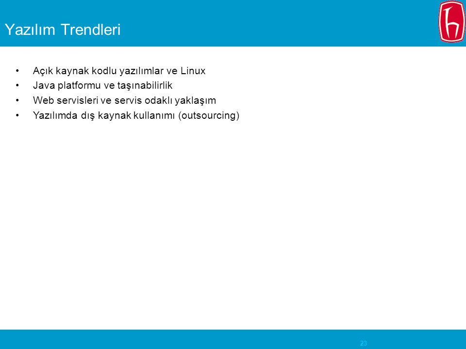 Yazılım Trendleri Açık kaynak kodlu yazılımlar ve Linux