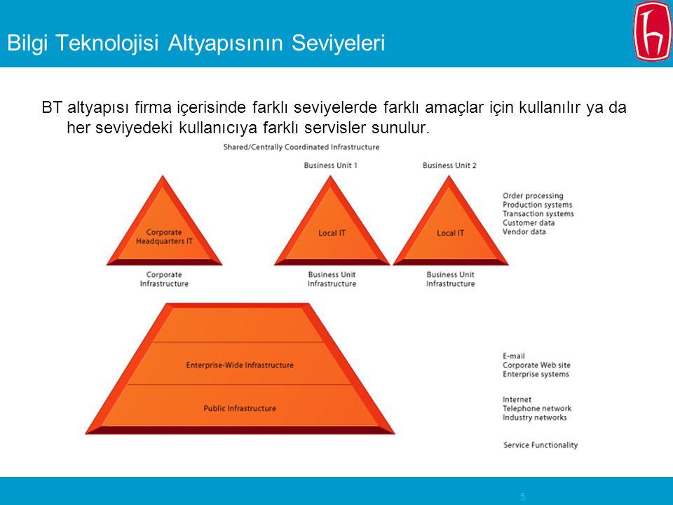 Bilgi Teknolojisi Altyapısının Seviyeleri