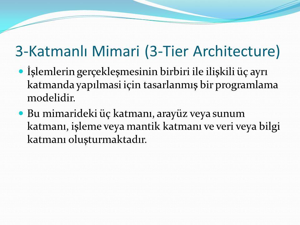 3-Katmanlı Mimari (3-Tier Architecture)