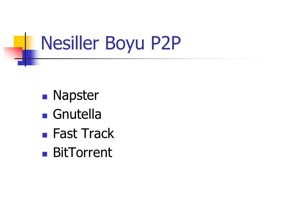 Nesiller Boyu P2P Napster Gnutella Fast Track BitTorrent