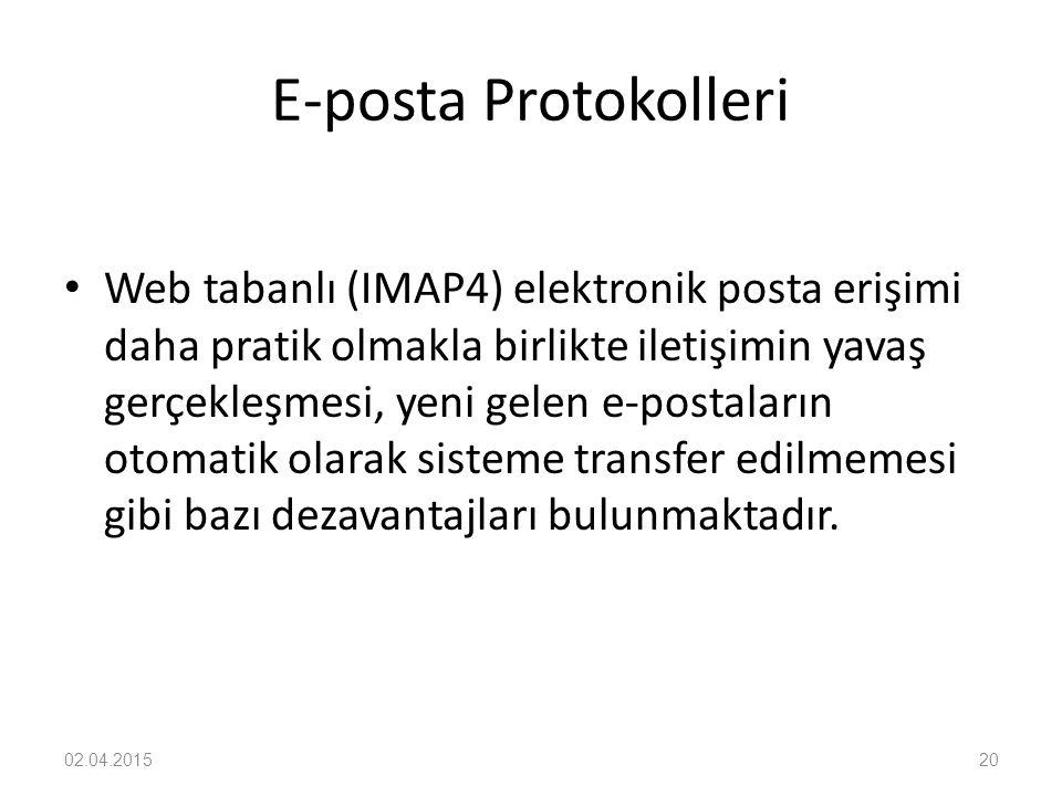 E-posta Protokolleri