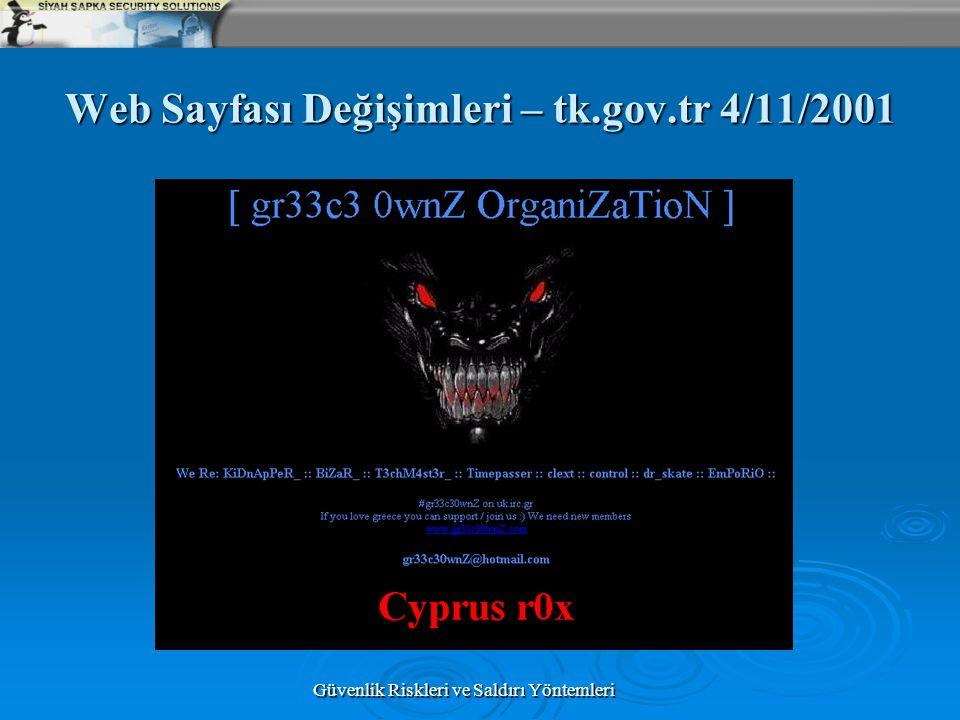 Web Sayfası Değişimleri – tk.gov.tr 4/11/2001