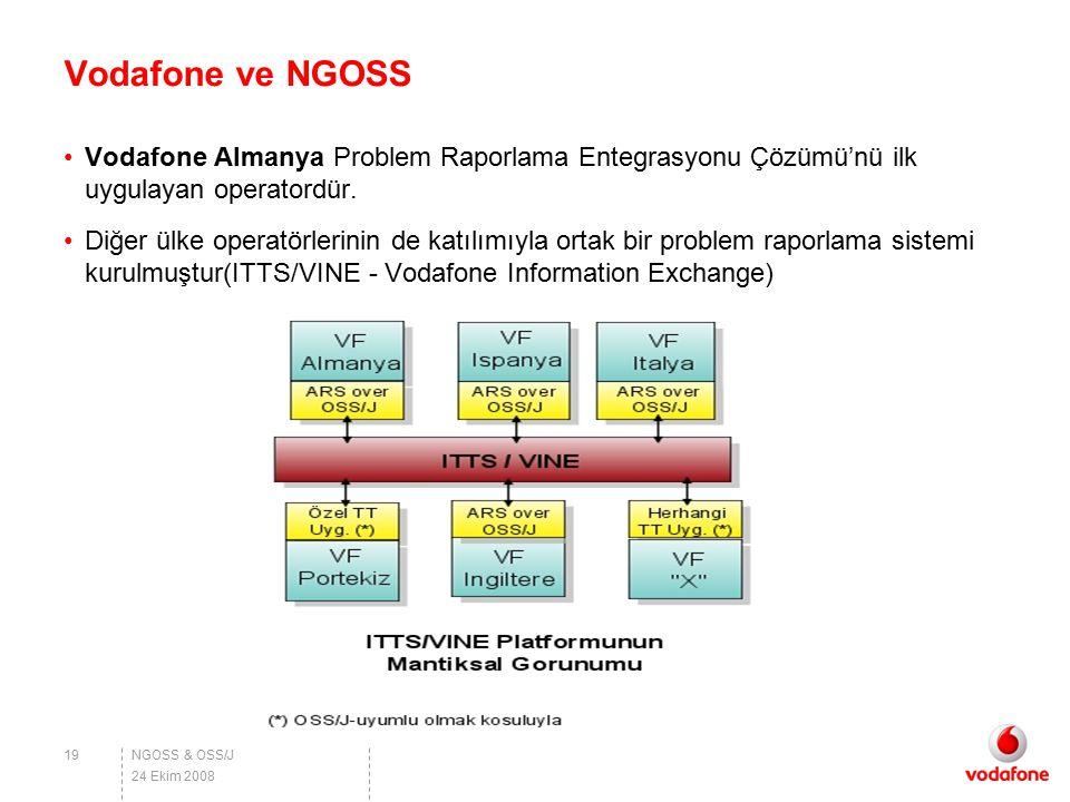Vodafone ve NGOSS Vodafone Almanya Problem Raporlama Entegrasyonu Çözümü'nü ilk uygulayan operatordür.
