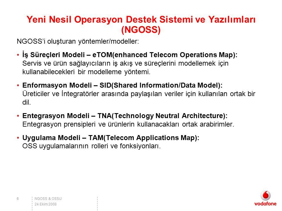 Yeni Nesil Operasyon Destek Sistemi ve Yazılımları (NGOSS)