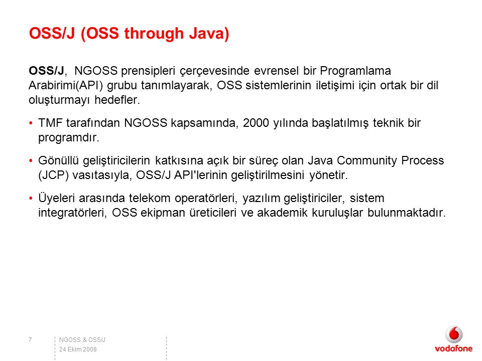 OSS/J (OSS through Java)