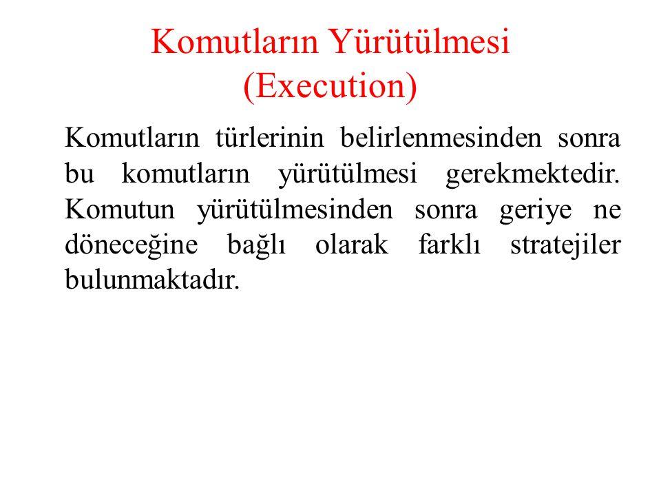 Komutların Yürütülmesi (Execution)