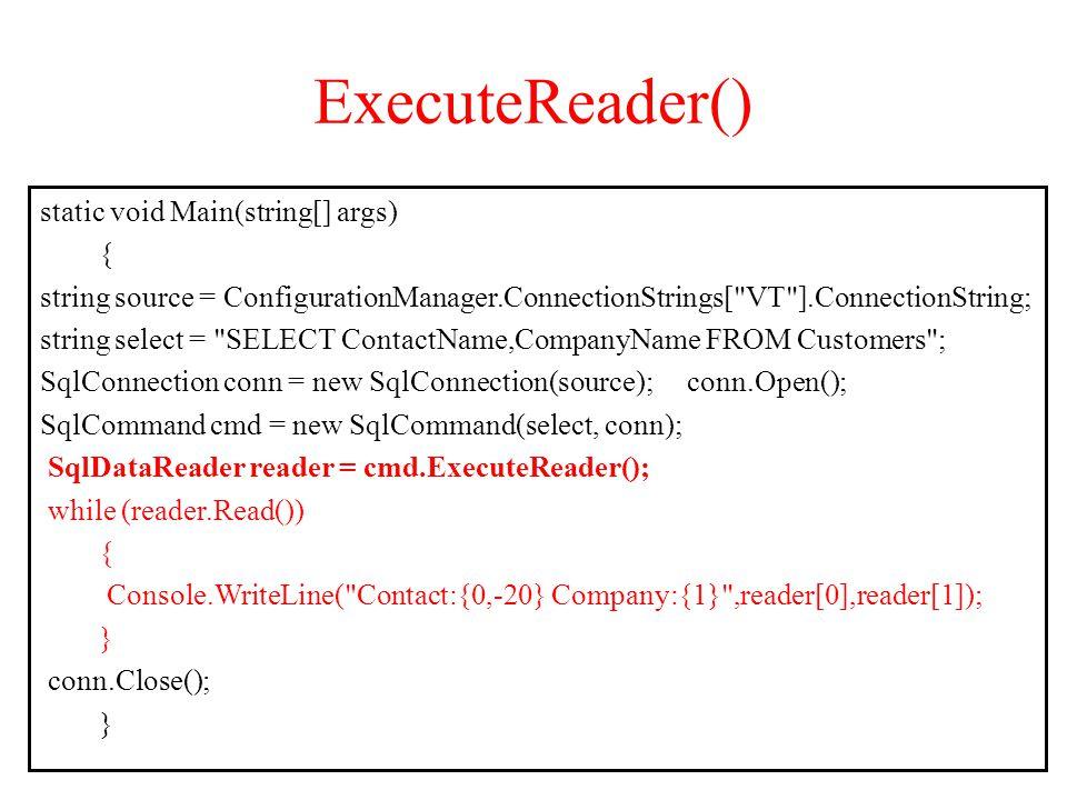 ExecuteReader()