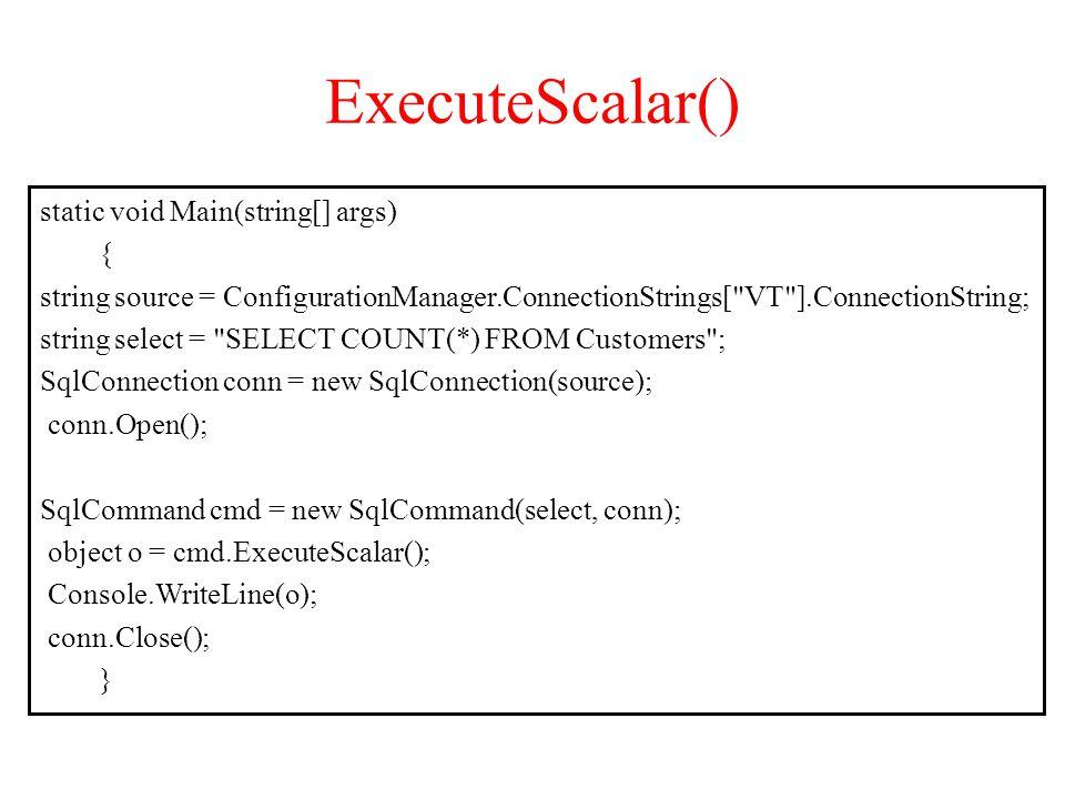 ExecuteScalar()