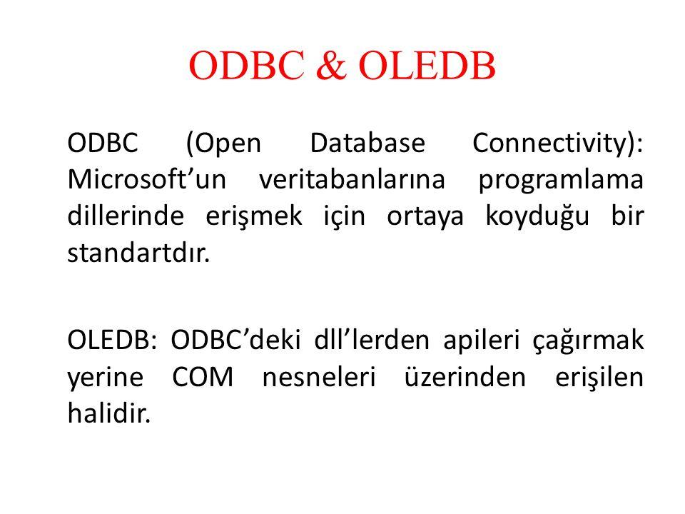 ODBC & OLEDB