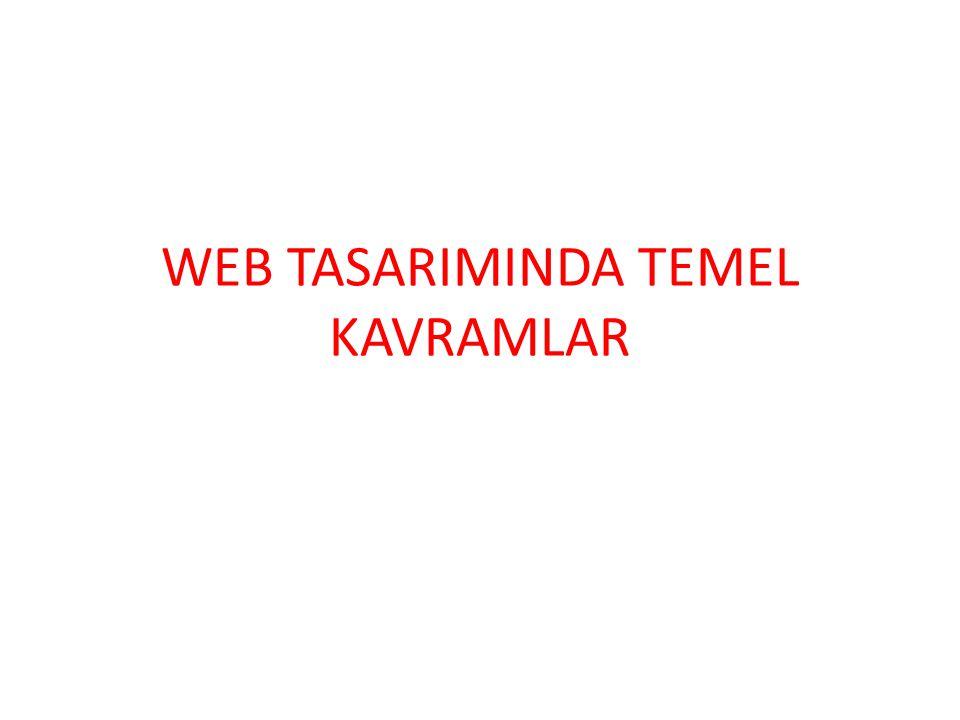WEB TASARIMINDA TEMEL KAVRAMLAR