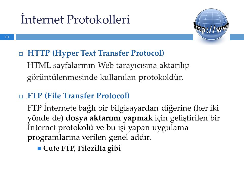 İnternet Protokolleri