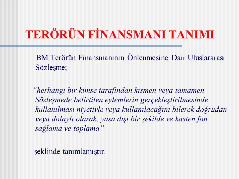 TERÖRÜN FİNANSMANI TANIMI