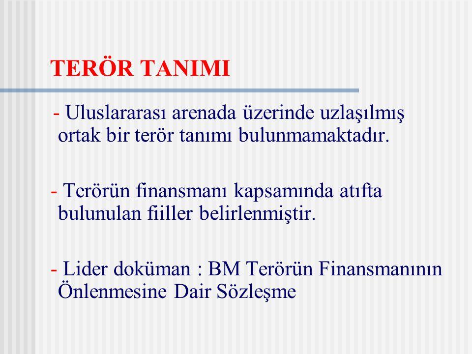 TERÖR TANIMI - Uluslararası arenada üzerinde uzlaşılmış ortak bir terör tanımı bulunmamaktadır.