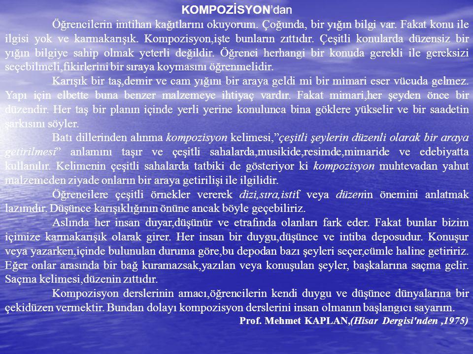 KOMPOZİSYON'dan