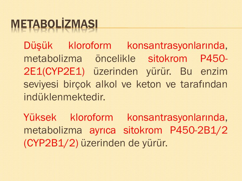 METABOLİZMASI