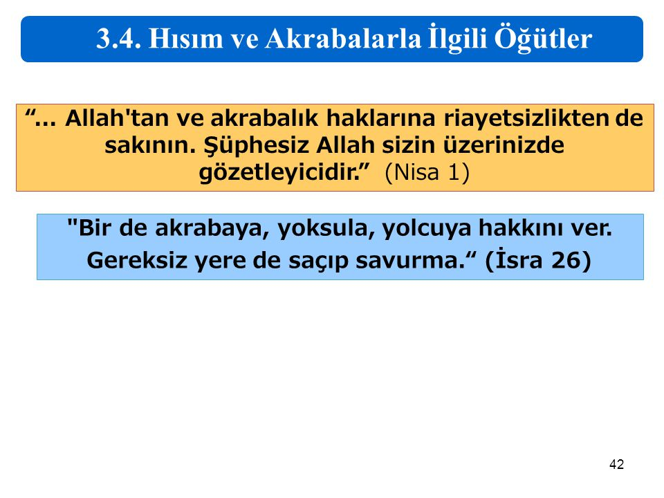 3.4. Hısım ve Akrabalarla İlgili Öğütler