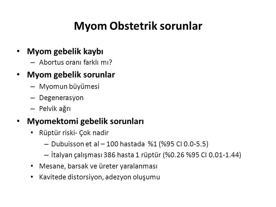 Myom Obstetrik sorunlar