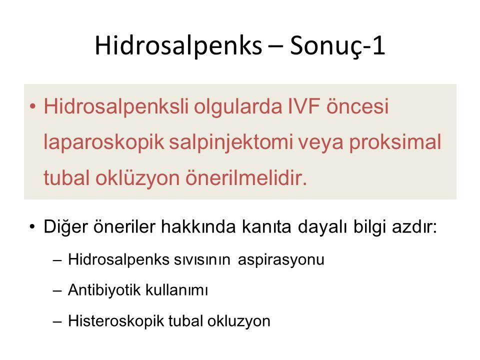Hidrosalpenks – Sonuç-1