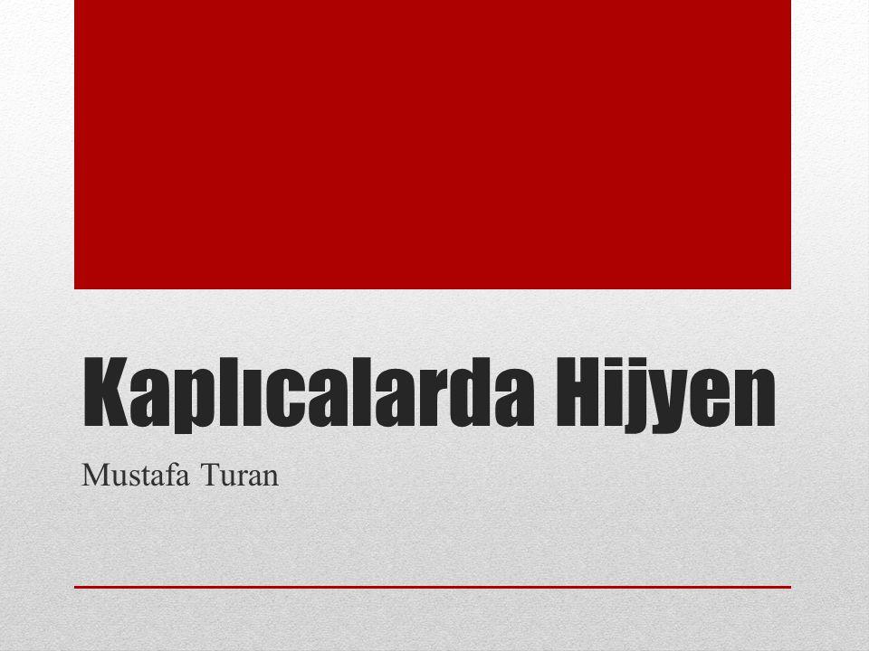 Kaplıcalarda Hijyen Mustafa Turan