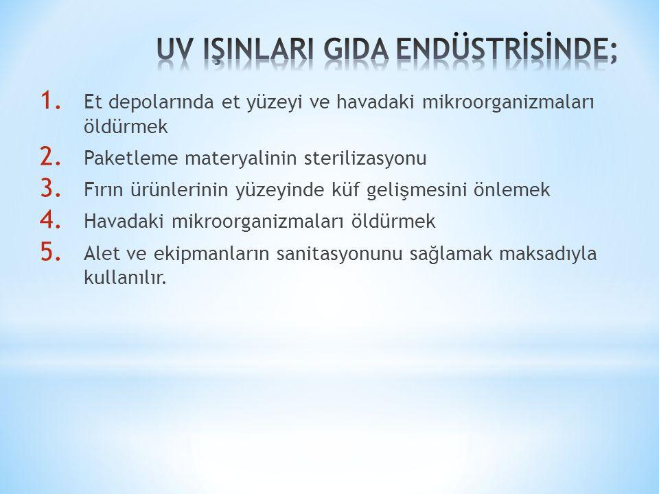 UV IŞINLARI GIDA ENDÜSTRİSİNDE;