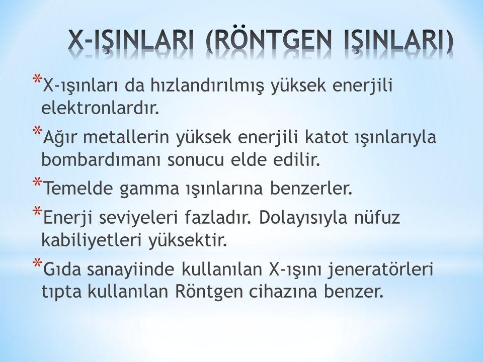 X-IŞINLARI (RÖNTGEN IŞINLARI)