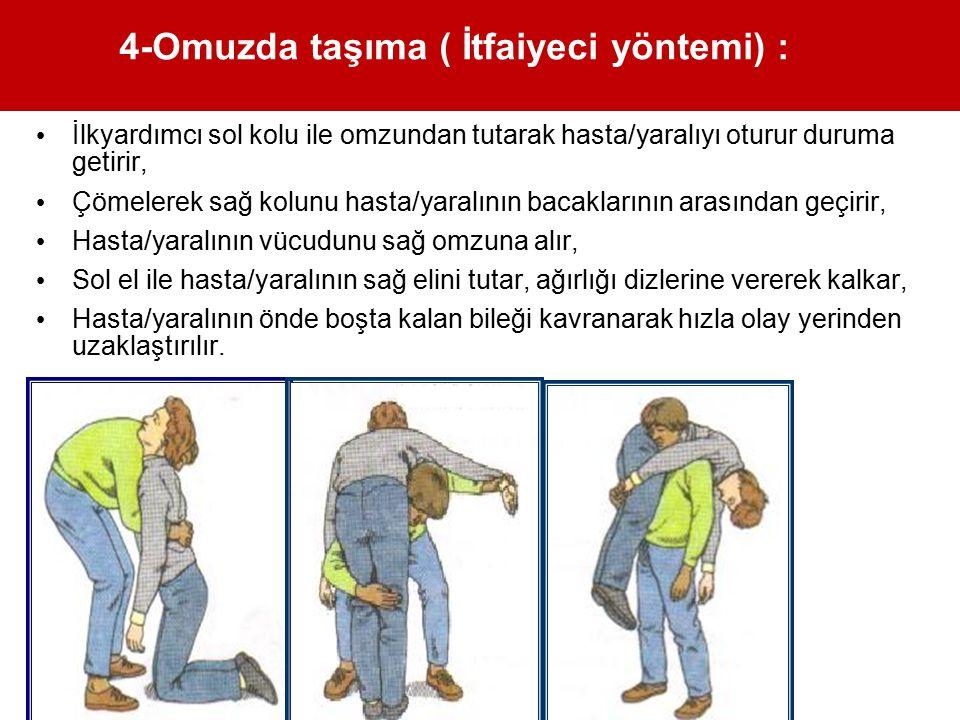 4-Omuzda taşıma ( İtfaiyeci yöntemi) :
