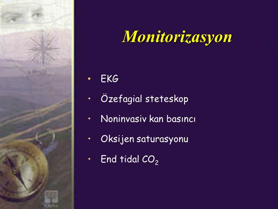 Monitorizasyon EKG Özefagial steteskop Noninvasiv kan basıncı