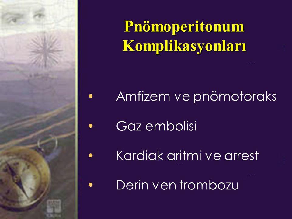 Pnömoperitonum Komplikasyonları