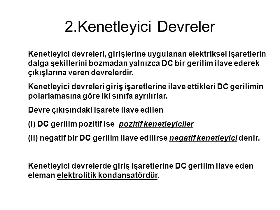 2.Kenetleyici Devreler