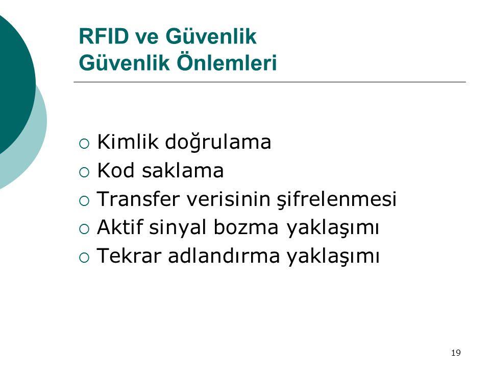 RFID ve Güvenlik Güvenlik Önlemleri