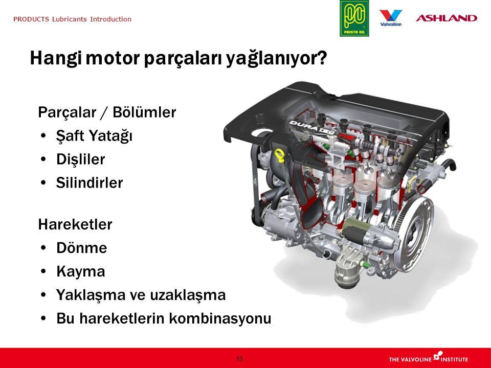 Hangi motor parçaları yağlanıyor