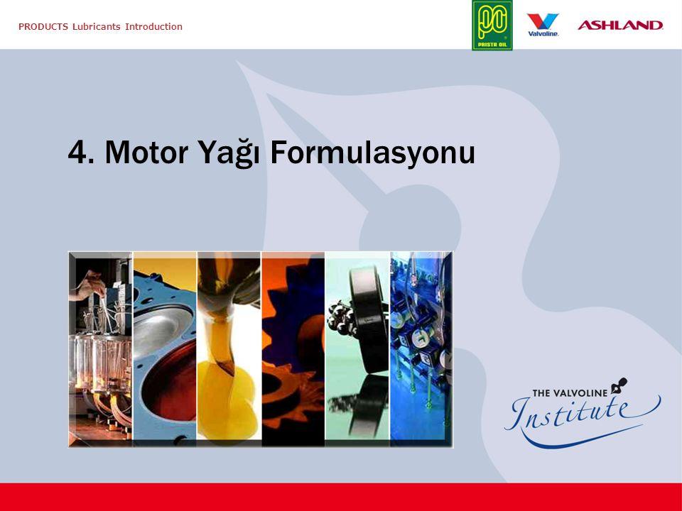 4. Motor Yağı Formulasyonu