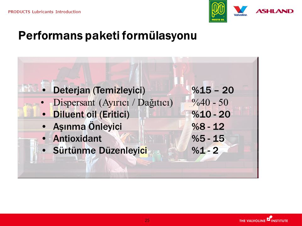 Performans paketi formülasyonu